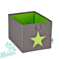 Store  !T Kocka Tároló szűrke/zöld csillag