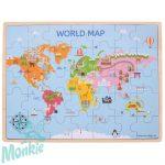 Bigjigs Világ térkép puzzle