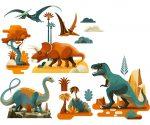 Djeco Ablakmatrica - Dinoszaurusz - Dinosaures