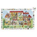 Djeco Megfigyeltető puzzle - A ház, 35 db-os - The house