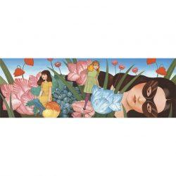 Djeco Művész puzzle - Egyszarvú és a hölgy, 500 db-os - Unicorn lady