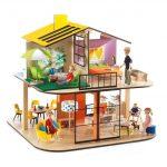 Djeco Színes babaház - Colour house (House sold empty)