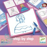 Djeco Rajzolás lépésről lépésre - Hercegnő - Step by step Joséphine and Co