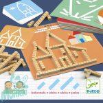 Djeco Fejlesztő játék - Mérőrúd-hálózat - Eduludo sticks