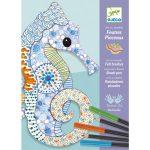 Djeco Művészeti műhely - Színező, Mintázatok ceruzával és filctollal - Motif art