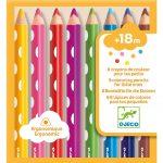 Djeco Színes ceruza készlet kicsiknek - 8 colouring pencils for little ones