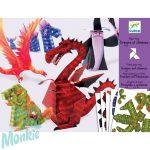 Djeco Síkból térbe formálás - Sárkányok és mesebeli lények - Dragons and chimeras