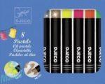 Djeco Olajpasztell készlet - 8 pop szín - 8 oil pastels Pop colours