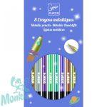Djeco Színes ceruza készlet - 8 szín, metál - 8 metallic pencils