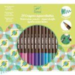 Djeco Színes ceruza készlet - 24 szín, akvarell - 24 watercolour pencils