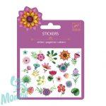 Djeco Mini matrica - Trópusi virágok - Tropicals flowers