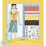 Djeco Papírbaba öltöztető - Lulu ruhásszekrénye - Louise's dressing room