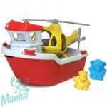 Green Toys mentőhajó helikopterrel