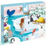 "Tapintós puzzle - ""élet a jégen"" - 20 darabos"